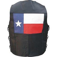 AL2219 Men's Texas Flag Leather Vest