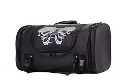Motorcycle Sissy Bar Bag Trunk With Skull