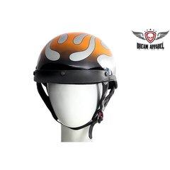Chrome Flame DOT Motorcycle Helmet