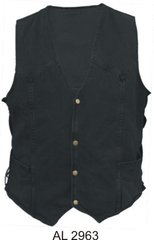 AL2963 Gun Pocket Denim vest with side ties