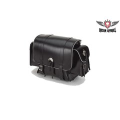 Motorcycle Sissy Bar Bag With Concho & Light Reflector
