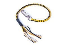 Yellow & Black Get Back Whip For Motorcycles
