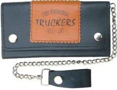 AL3288 Biker Wallet with Trucker Logo