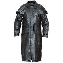 AL2600-Black Buffalo Leather Duster