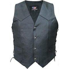AL2213-Men's Basic Side Laced Biker Vest