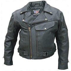 AL2014-Men's Vented Leather Biker Jacket