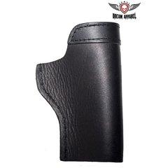 Black Leather Gun Holster For Bikers