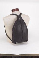 Women Black Backpack With Center Zipper