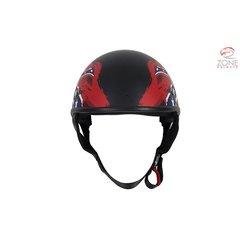 Flat Black DOT Rebel Motorcycle Helmet