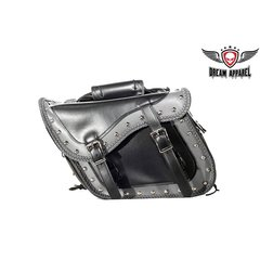 Chrome Plate PVC Motorcycle Saddlebag