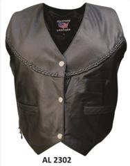 AL2302 Ladies braided vest