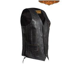 Leather Eagle Retro Black Motorcycle Vest
