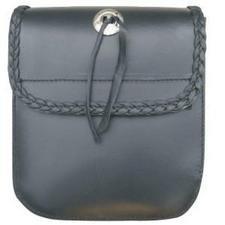 AL 3722 Medium Braided Sissy bar bag with Velcro Closure.