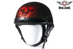 Boneyard Burgundy DOT Approved Biker Helmet