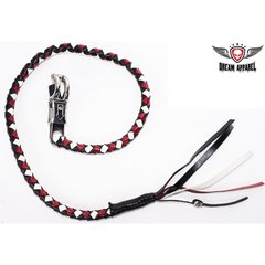 White, Black & Red Motorcycle Get Back Whip