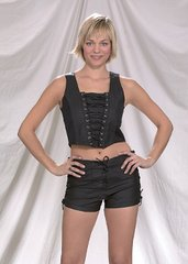 Ladies Stretch Biker Vest