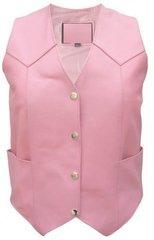 Ladies Pink leather vest