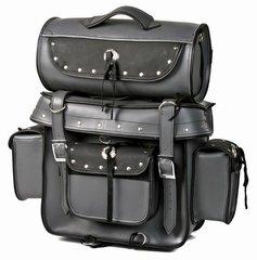 Gray Motorcycle Sissy Bar Bag