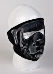 Gray Bulldog Face Mask