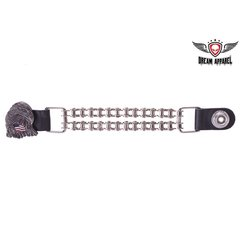 Eagle and USA Flag Vest Extender With Motorcycle Chain