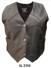 AL2350-Ladies Buffalo Leather Vest