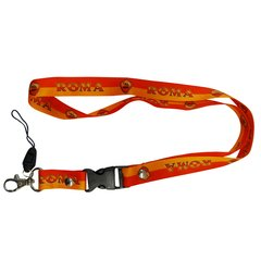 "ROMA LOGO FIFA SOCCER WORLD CUP LANYARD KEYCHAIN PASSHOLDER NECKSTRAP .. CLASP AT THE END .. 20"" INCHES LONG .. HIGH QUALITY .. NEW AND IN A PACKAGE"
