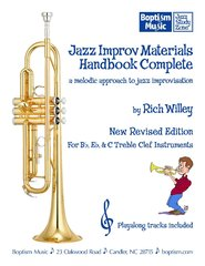 Jazz Improv Materials Handbook Complete for Treble Clef Instruments, by Rich Willey
