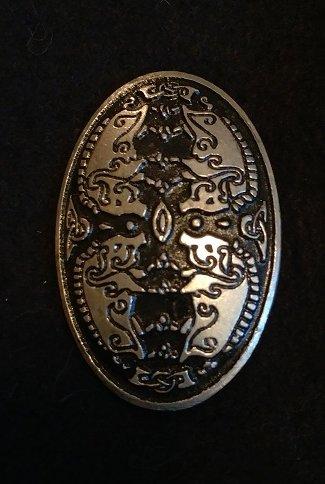 Oval Viking Boar Pewter Broach