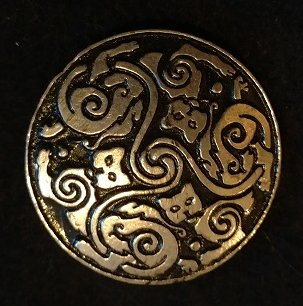Celtic Cats 1.5inch Pewter Broach