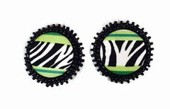 Zebra In The Wild Clip On Earrings
