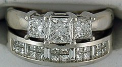 Ladies 1-3/4ctw Diamond Engagement Set