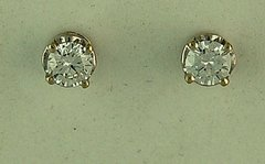 5/8ctw Round Cut Diamond Stud Earrings