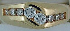 1ctw Gentlemans Diamond Ring
