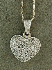 Ladies 1/2ctw Pave Diamond Heart Pendant on a Chain