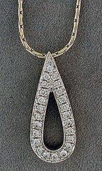 1/2ctw Diamond Teardrop Pendant