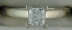 .72ct Princess Cut Diamond Solitaire Ring