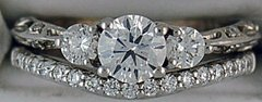 Ladies Diamond Wedding and Engagement Set