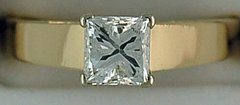 1ct Princess Cut Diamond Solitaire