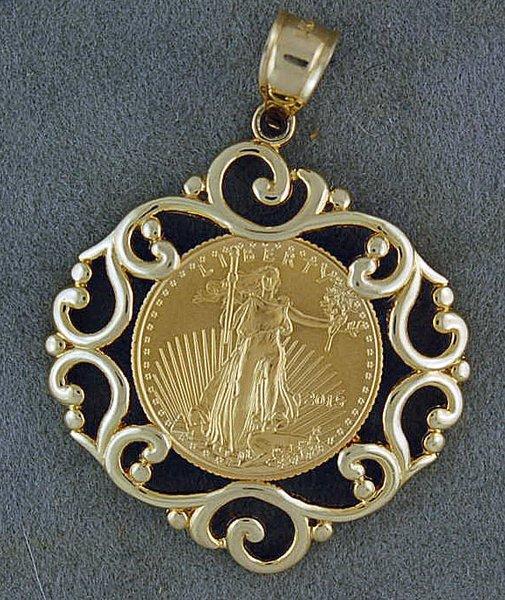 1 10oz us gold bullion coin pendant brooks pawn and