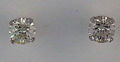 Ladies 1/2ctw Diamond 4 Prong Stud Earrings