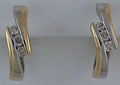 Ladies 1/5ctw Diamond Hoop Earrings