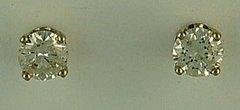 Ladies 5/8ctw ROund Cut Diamond Stud Earrings