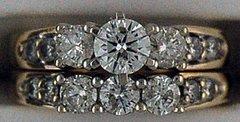 Ladies 14 Diamond Wedding and Engagement Set