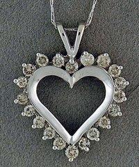 3/4ctw Diamond Heart Pendant on a Chain