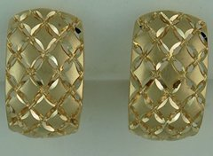 Ladies Filigree Hoop Earrings
