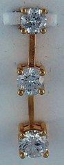 3 Round Brilliant Cut Diamond Pendant