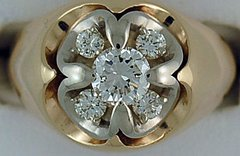 Gentleman's 1ctw Diamond Cluster Ring