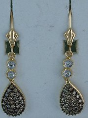1/2ctw Ladies Pave Set Diamond Earrings