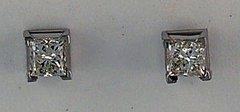 Ladies 1/2ctw Diamond Stud Earrings