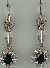 9/10ctgw Emerald and Diamond Earrings